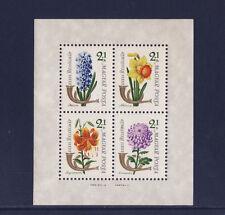 Hongrie  bloc  journée du timbre  fleurs  1963   num: BF 45  **
