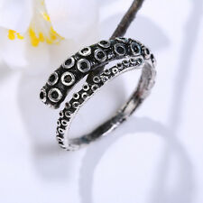 Chic Vintage Stainless Steel Octopus Tentacle Wrap Finger Decor Adjustable Ring