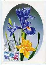 FRANCE 1969 CM 1° jour Floralies, fleurs timbre 1597