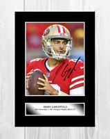 Jimmy Garoppolo (1) San Francisco 49ers signed poster. Choice of frame.