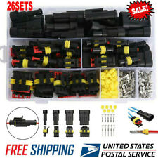 26 Sets/Kit 1-4 Pin Electrical Wire Connector Plug Waterproof Automotive Plug