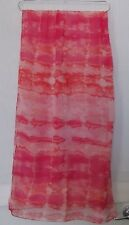Christopher Banks Scarf  Tie Dye print, cool colors of Pinks, Coral NWT