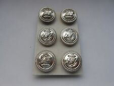 six shaw and saville shipping  line buttons   silver finish  made in england