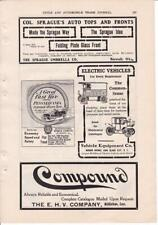 1906 Vehicle Equipment Co Electric Truck and Car Ad-Print / PA Tire Co