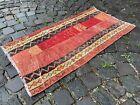 Patchwork, Handmade rug, Turkish rug, Vintage rug, Runner, Wool | 1,8 x 3,5 ft