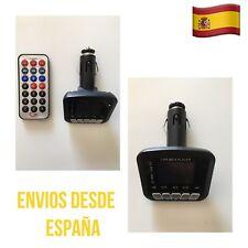Transmisor FM MP3 Coche TF/SD USB AUX Mando Reproductor Música