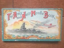 Vintage Sewing Needles The Army And Navy Book Extremely Rare Design Ship And Jet