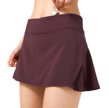 Lululemon Play Off The Pleats Skirt 6 Skort Cassis Burgundy CSSI NEW WITH TAGS