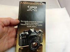 "Canon Ae-1 ""new Generation"" Brochure Guide (En) 35mm 1980 Camera accessory guide"
