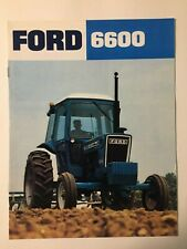 Ford 6600 Tractor w/ Cab Color Brochure 8 pg. original vintage '77 MINT
