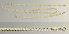 45 / 50 / 55 cm flache breite Goldkette 585 - Halskette Kette Gelbgold Collier