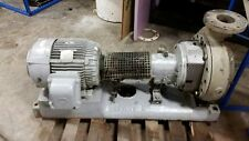 Goulds Pump Model 3196, size: 4x6-13, 316 Stainless Steel, mounted w/ motor