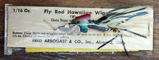 New ListingVintage Arbogast Fly Rod Hawaiian Wiggler Fishing Lure On Card!