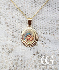 """Fine 9ct Yellow Gold Madonna & Child Necklace 14"""" 16"""" 18"""" 20"""" ADULT CHILD"""