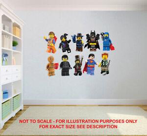 LEGO MOVIE STICKERS SUPER HEROES KIDS BEDROOM VINYL DECAL WALL ART STICKER