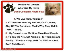 Funny Dog Cockapoo House Rules Refrigerator / Magnet Gift Card Idea