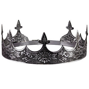 Silver King's Crown For Theater Prom Party Decorations Royal Crown Men Costume