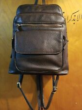 Vintage G.H. BASS Brown Pebbled Leather Backpack Sling Purse Hand Bag