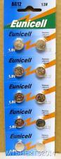 10 x EUNICELL AG12 1.5 V alcaline LR43 L1142 D186A G12 coin Battery Piles NX3