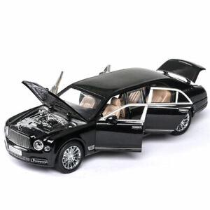 1/24 Scale Bentley Mulsanne Limousine Model Car Alloy Diecast Vehicle Gift Black