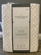 Threshold Cotton Sheet Set Twin Xl Geo Pink Lace