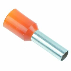 Orange 4mm Bootlace Ferrule Connectors - Pack of 100