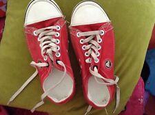 Crocs red canvas pumps size 5