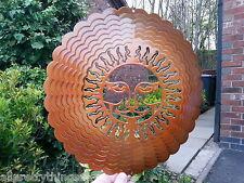 "RRP £19.99- Iron Stop 12""/30 cm COPPER SUNBURST WIND SPINNER Twister Hook Garden"