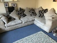 Corner sofa and cuddle chair in Panama design from SCS some new cushion covers