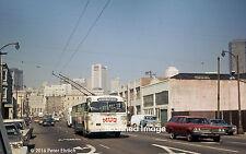 Original Photograph: Muni Twin Coach trolleybus 619 appr 4th St./Harrison IB