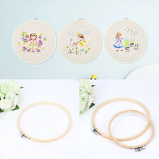 "13cm/5.12"" Wooden Bamboo Embroidery Cross Stitch Tapestry Hoop Round Sew Frame"