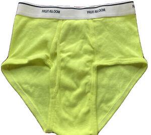 Men's Fruit Of The Loom Underwear Briefs: Neon Yellow