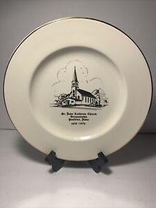 1878-1978 Paullina Iowa St. John Lutheran Church Commemorative Plate