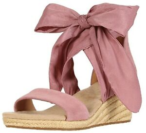 UGG TRINA Ribbon Tie Pink Wedge Sandals Shoes Women's Sz 8 New In Box