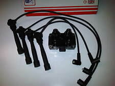 FIAT PUNTO MK2 1.2 16v NEW IGNITION COIL PACK & A SET OF HT PLUG LEADS 1999-05