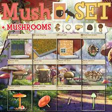 New Horizons - 🍄Complete 12 PC Mushroom DIY + 250 Mushroom 5 Types Rare Round🍄
