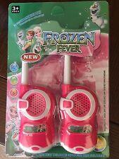 Disney Frozen Fever Set de 2 talkie walkies rose Batterie, 3+ ans.
