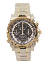 Bulova Men's Precisionist 98B317 Silver/Rose Gold Chronograph Analog Watch