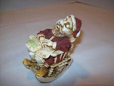 "1998 Harmony Kingdom ""Jingle Bell Rock"" Rocking Chair & Santa Figurine~England"