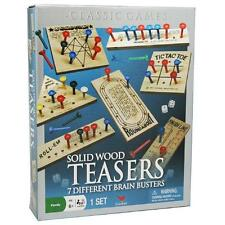 New Classic Games Solid Wood Teasers 7 Different Brain Busters Family Fun Age 6+