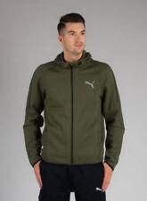 Abbiglimento sportivo da uomo Felpa con cappuccio verde PUMA