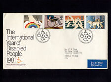 1981 Britain Edinburgh International Year of Disabled People Fdc