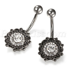 Vintage Charm Bohemia Patterned Navel Nails Bar Stud Women Body Piercing Jewelry