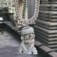 HipHop Style Cartoon Face Fine Pendant 925 Sterling Silver Without chain