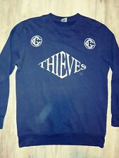Crooks and castles sweatshirt Mens Size Large Black And White