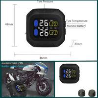 Motorcycle (TPMS) Tyre Pressure Monitoring System 2 Black Sensors , LCD display