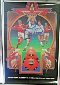 Vintage MISL AMF Voit Poster 1980 Major Indoor Soccer League