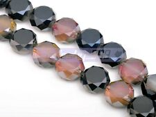 5/20pcs 12x6mm Drum Rondelle Faceted Crystal Glass Charm DIY Loose Spacer Beads