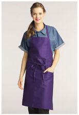 "Bib Apron, 2 Pockets, Pencil Pocket, Color: Purple, Size: 30"" W x 34"" L - 3004"
