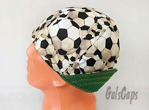 #23 Soccer Balls Cap Reversible Welding Welders Bikers Caps Weld Cap Made in USA